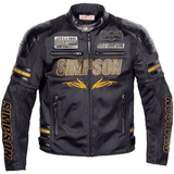 FirstGearMoto Jackets Gold / M SIMPSON SUMMER Motorcycle  JACKET