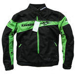 FirstGearMoto Jackets Green / M Kawasaki Motorbike Riding Jackets with Protectors