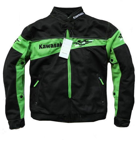 Kawasaki Motorbike Riding Jackets with Protectors