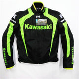 FirstGearMoto Jackets Green / M Kawasaki Motorcycle Textile Jacket with Protectors