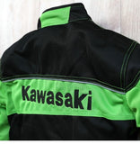 FirstGearMoto Jackets Kawasaki Motorbike Riding Jackets with Protectors