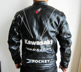 Kawasaki Motorcycle Racing Jacket PU Leather