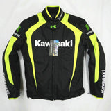 FirstGearMoto Jackets Kawasaki Motorcycle Textile Jacket with Protectors