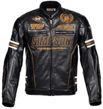 FirstGearMoto Jackets M / Gold Simpson 55th Anniversary Motorcycle Jacket