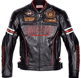 FirstGearMoto Jackets M / Red Simpson 55th Anniversary Motorcycle Jacket