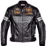 FirstGearMoto Jackets M / White Simpson 55th Anniversary Motorcycle Jacket