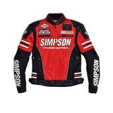 FirstGearMoto Jackets red / M SIMPSON SJ-4115 Motorcycle Jacket