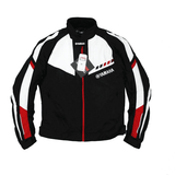 FirstGearMoto Jackets Red / M YAMAHA Textile Motorcycle Racing Jacket With Protective Gear