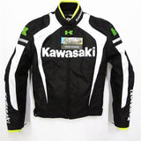 FirstGearMoto Jackets White / M Kawasaki Motorcycle Textile Jacket with Protectors