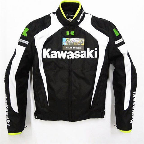 Kawasaki Motorcycle Textile Jacket with Protectors