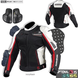 FirstGearMoto Jackets White / M KOMINE JK-092 R-Spec Sports Mesh Jacket