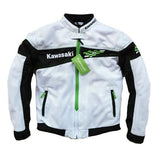 FirstGearMoto Jackets White / S Kawasaki Moto GP Motorcycle Racing Jacket