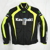 FirstGearMoto Jackets Yellow / M Kawasaki Motorcycle Textile Jacket with Protectors