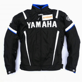 FirstGearMoto Motorcycle Jacket Blue / M Yamaha Textile Motorcycle Motocross Jacket