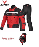 FirstGearMoto Motorcycle Jacket red suits / L DUHAN Motorcycle Jacket Suit