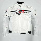 FirstGearMoto Motorcycle Jacket White / S YAMAHA Motorcycle Textile Thermal Jacket