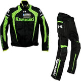 FirstGearMoto Pants and Trousers Green / M Kawasaki Textile Motorcycle Racing Suit