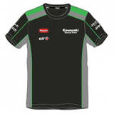 Kawasaki SBK Team Race Wear Black Green Shirt Official 2016