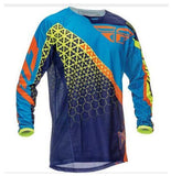 Fly Racing t-shirt Purple/yellow/Blue / XS Fly Racing Dirt Kinetic Trifecta Mesh Jersey