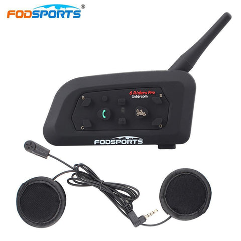 Fodsports V6 Pro Motorcycle Bluetooth Intercom Helmet Headset