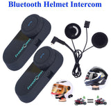 FreedConn Bluetooth Intercom 2Pcs Freedconn 800M Headset Motorcycle Intercom Walkie Talkie