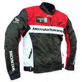 Honda motorcycle racing textile oxford waterproof jacket with hard protectors