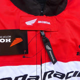 Honda Jackets Honda motorcycle racing textile oxford waterproof jacket with hard protectors