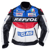 FirstGearMoto Jackets Honda Repsol Motorcycle Textile Jacket with Protectors