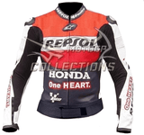 Honda Repsol Alpinestar Motorcycle Leather Jacket