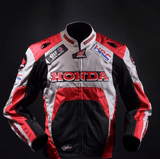 FirstGearMoto Jackets S / Red Honda Motorcycle Men Jacket