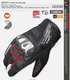 komine Gloves M / Red Komine GK-817 CE Protect Winter Gloves ASUKA