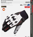 komine Gloves M / White Komine GK-114 Protect Leather Mesh Gloves