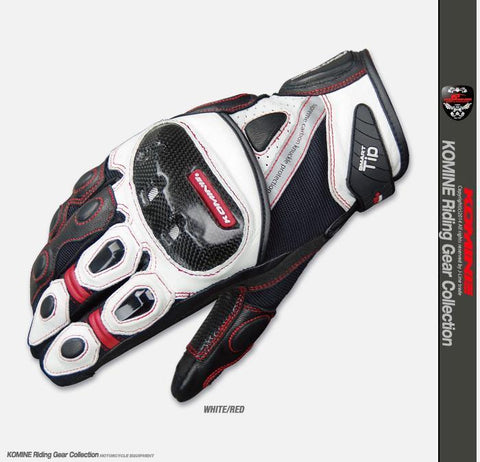 KOMINE GK-160 Summer Short Motorcycle Racing Gloves