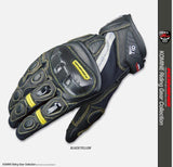 komine Gloves M / Yellow KOMINE GK-160 Summer Short Motorcycle Racing Gloves