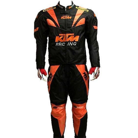 KTM Black Orange Textile Motorcycle Racing Suit