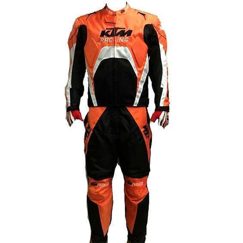 KTM Orange White Textile Motorcycle Street Racing Suit