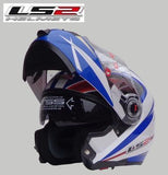 LS2 Helmets 11 / L LS2 FF370 Men Flip Up Motorcycle Helmet