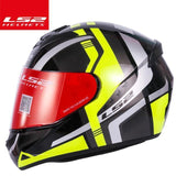 LS2 Helmets Black yellow track / XL LS2 FF352 Full Face Motorcycle Helmet
