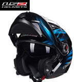 LS2 Helmets Blue Dream / L LS2 FF370 Men Flip Up Motorcycle Helmet