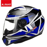 LS2 Helmets Blue Parker / XL LS2 FF352 Full Face Motorcycle Helmet