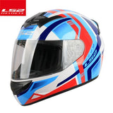 LS2 Helmets Blue red new arrival / L LS2 FF352 Full Face Motorcycle Helmet