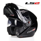 LS2 Helmets Gloss Black / L LS2 FF370 Men Flip Up Motorcycle Helmet