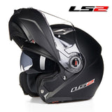 LS2 Helmets Matte Black / L LS2 FF370 Men Flip Up Motorcycle Helmet