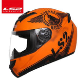 LS2 Helmets Orange Knight / XL LS2 FF352 Full Face Motorcycle Helmet
