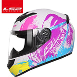 LS2 Helmets Purple blue charge / XL LS2 FF352 Full Face Motorcycle Helmet