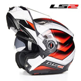 LS2 Helmets Red Hell / L LS2 FF370 Men Flip Up Motorcycle Helmet