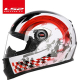 LS2 Helmets Red insisted / L LS2 FF358 motorcycle helmet
