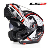 LS2 Helmets Red Kilometer / L LS2 FF370 Men Flip Up Motorcycle Helmet