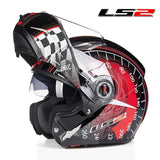 LS2 Helmets Red Speed / L LS2 FF370 Men Flip Up Motorcycle Helmet