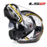 LS2 Helmets yellow Kilometer / L LS2 FF370 Men Flip Up Motorcycle Helmet